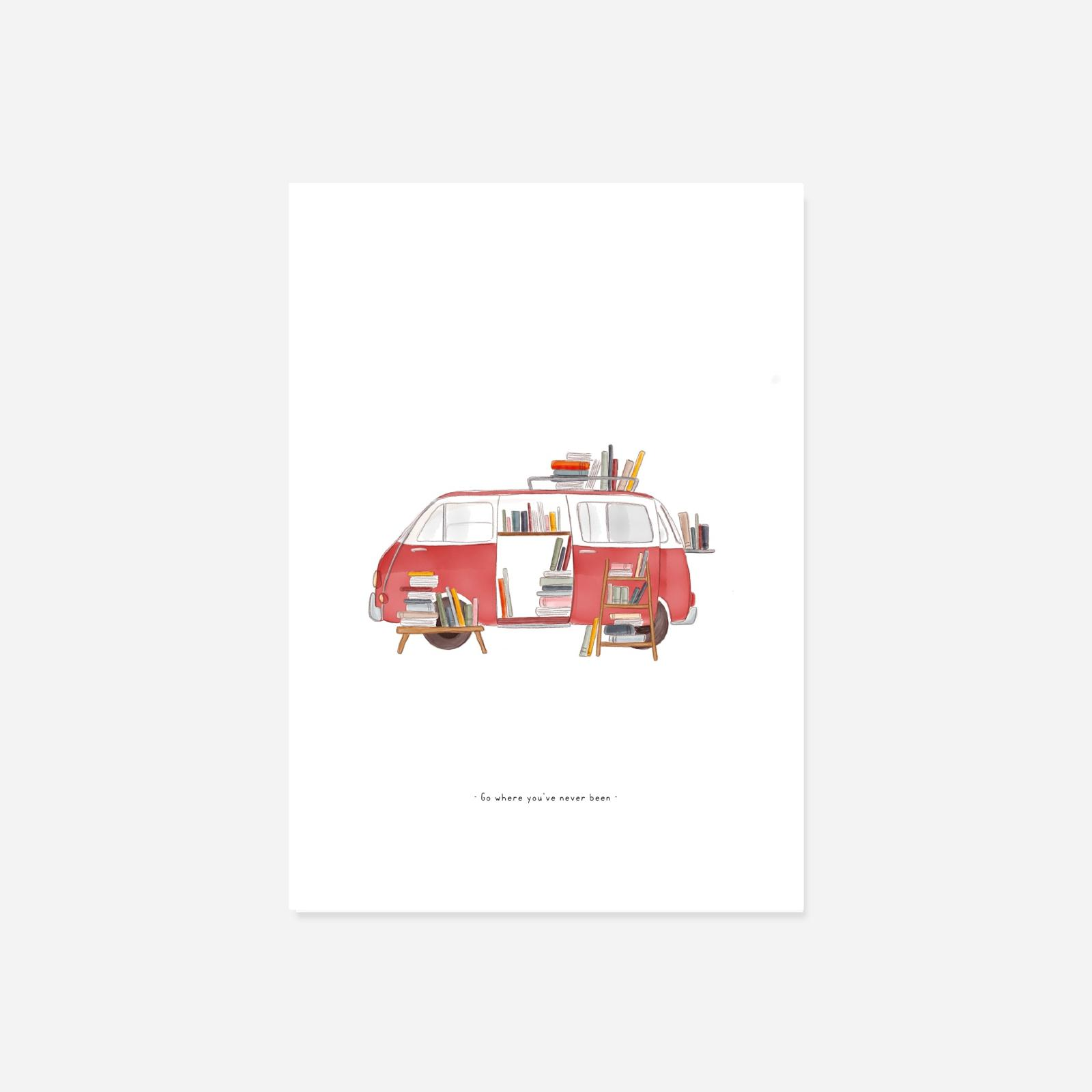 Illustratie Boekenbus