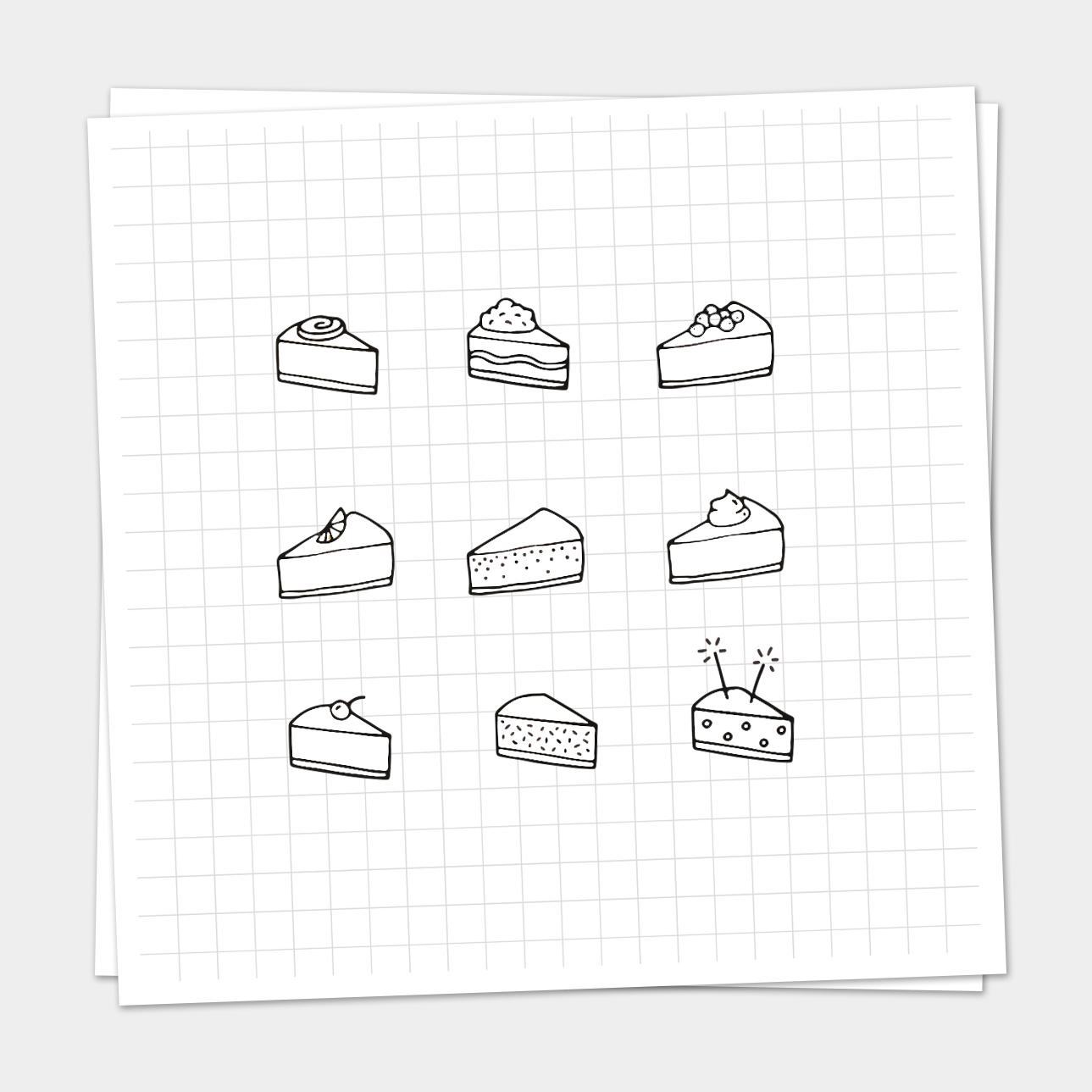 Iconen taartjes