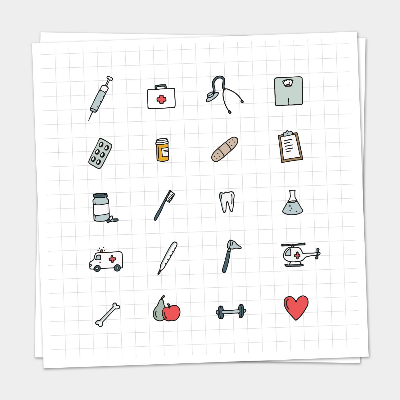 Medische Iconen Set