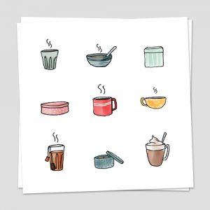 Iconen set koffie thee