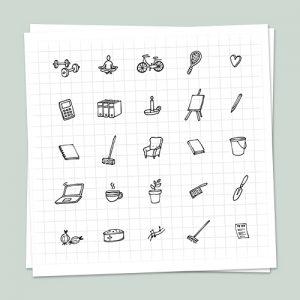 Iconen Set Huis van je Leven